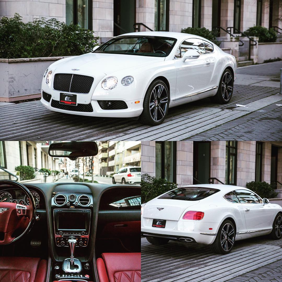 2013 Bentley Continental GT V8 Gorgeous White on Red withhellip
