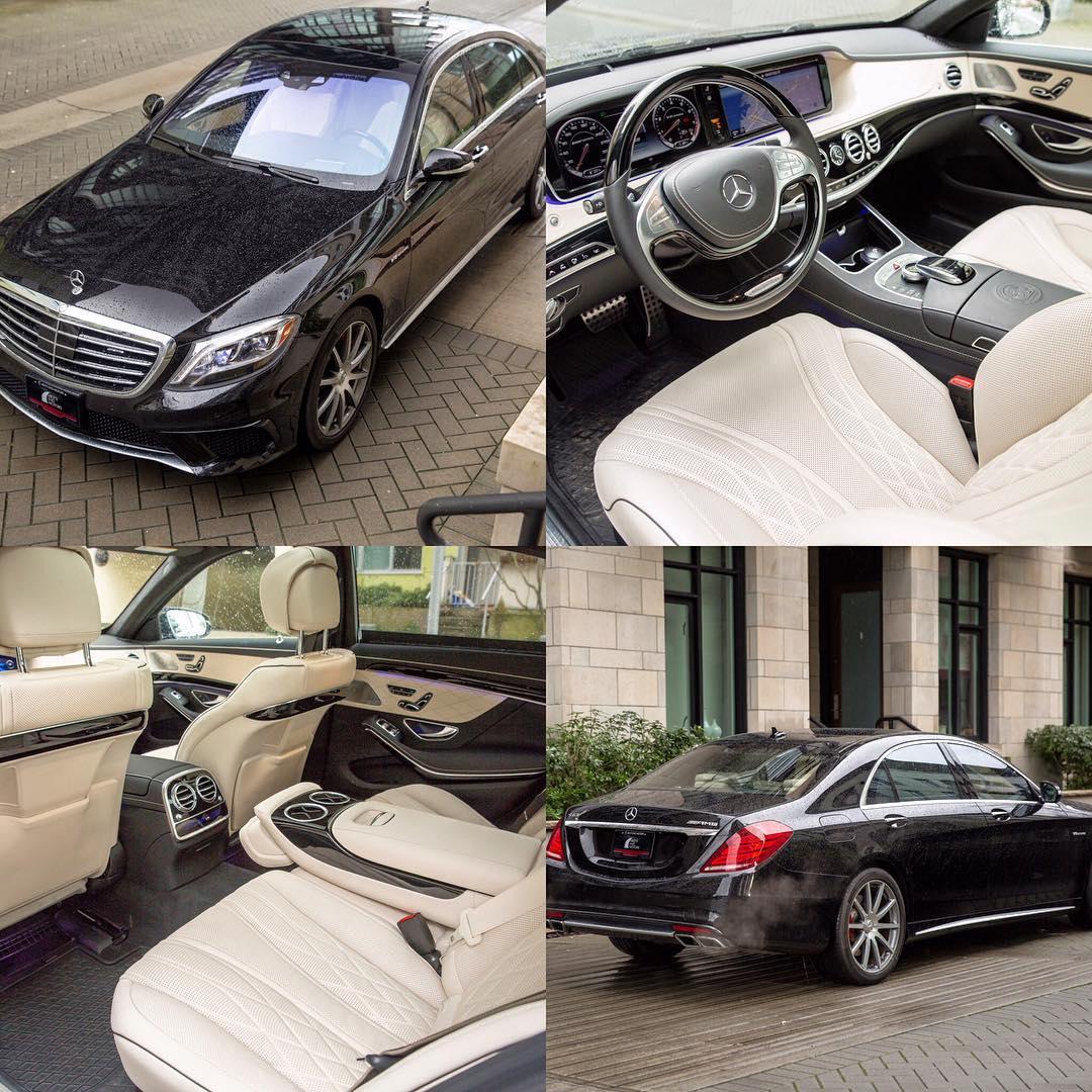 2015 MercedesBenz S63 AMG in Stunning Black on White interiorhellip