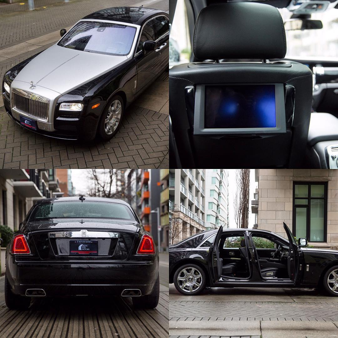 Royce Rolls Ghost with very low mileage Black on blackhellip
